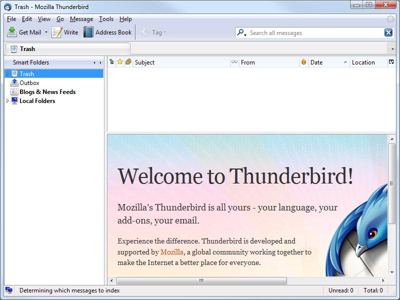 Thunderbird z dodatkom Lightning